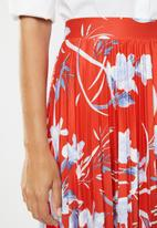 edit - Pleated skirt - red & blue