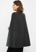 edit - Structured cape - grey
