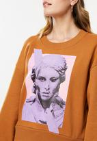 ONLY - Katy long sleeve o-neck sweat - brown