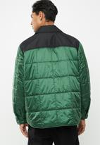 Diesel  - Welles quilted jacket - green & black
