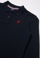 POLO - Boys robert long sleeve golfer - navy