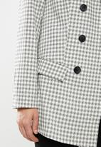 Missguided - Checked blazer - grey