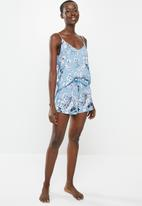 Superbalist - Sleep cami & shorts - blue