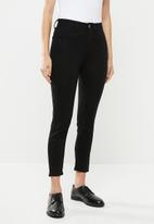 Cotton On - Mid rise cropped super stretch - black
