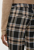 MANGO - Check detail trousers - brown & black