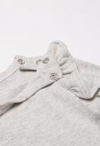 Cotton On - The long sleeve ruffle bodysuit - grey
