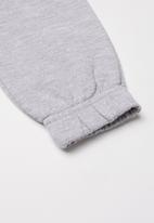 POP CANDY - Girls 2 pack joggers - grey & purple
