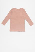 Cotton On - Austin long sleeve placket top - pink