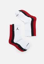 Nike - Jordan jumpman 3 pack crew socks - multi