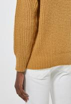Superbalist - Roll neck chunky knit jumper - yellow