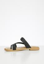 Crocs - Tulum toe post sandal - black & tan