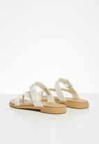 Crocs - Tulum toe post sandal - white & tan