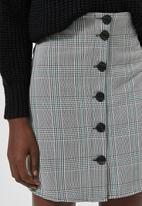 Superbalist - Check button through mini skirt - multi