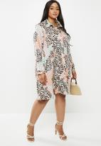 Glamorous - Plus leopard tunic - multi