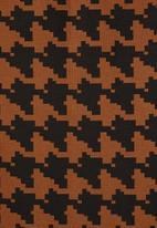 Superbalist - Hi neck shift dress - brown & black