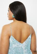 Cotton On - Curve astrid cami - ditsy cerulean