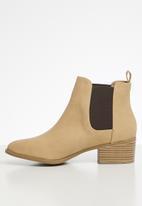 Cotton On - Brixton gusset boot - beige