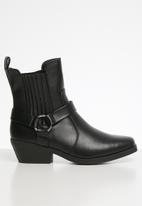 Cotton On - Tara square toe harness boot - black