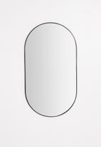 Sixth Floor - Arlo oval mirror - black