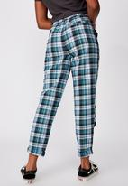 Factorie - Tapered leg check pant - multi