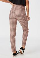 Factorie - Stretch check pant - multi