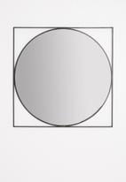 Sixth Floor - Atlas round mirror - black
