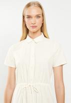 Jacqueline de Yong - Villads short sleeve dress - cream