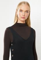 Jacqueline de Yong - Saki button jumpsuit - black