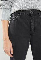 Factorie - Ripped mom jeans - black