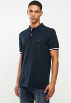 Tommy Hilfiger - Basic tipped regular polo - navy