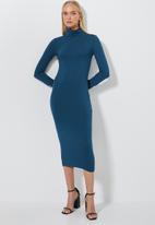 Superbalist - Poloneck midi dress - blue