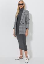 Superbalist - Poloneck midi dress - grey