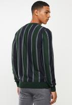 Brave Soul - Lyons vertical stripe crew knitwear - multi