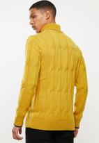 Selected Homme - Kale roll neck knit sweater - mustard