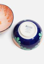 Maxwell & Williams - Majolica snack bowl set of 4 - ink blue