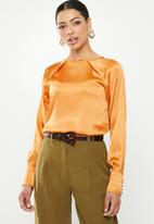 Glamorous - Satin blouse - orange