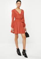 Glamorous - Mini spot dress - orange & black