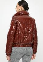 Missguided - Cire puffer jacket - red
