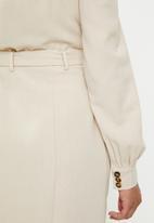 Glamorous - Button through mini with square neck - beige