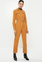 Glamorous - Ginger military jumpsuit - orange