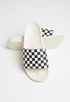 Vans - Checkerboard slide - black & white