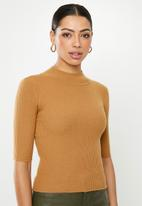Glamorous - High neck knit- tan
