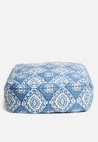 Sixth Floor - Mykonos floor cushion - navy