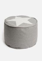 H&S - Star ottoman - grey