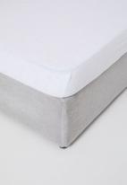 Sheraton Textiles - Terry towelling mattress protector - white