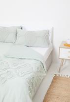 Linen House - Alli duvet cover - green