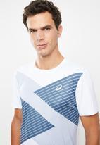 Asics - Tokyo short sleeve tee - blue & white
