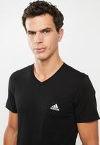 adidas Performance - Adidas short sleeve v-neck tee - black