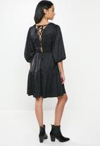 Glamorous - Petite textured tunic  - black