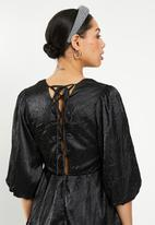 Glamorous - Textured tunic dress - black